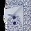 Thumbnail: Men's white with fine chevron pattern blue navy & gray long sleeve Ave21 shirt