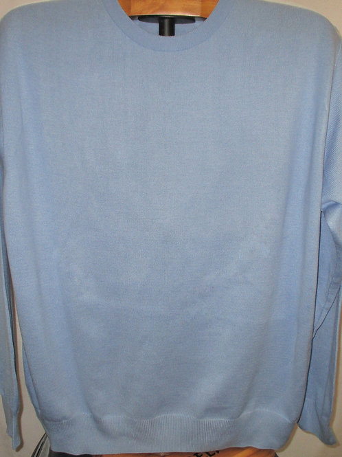 Men's Light Blue Solid Italian Montechiaro Sweater