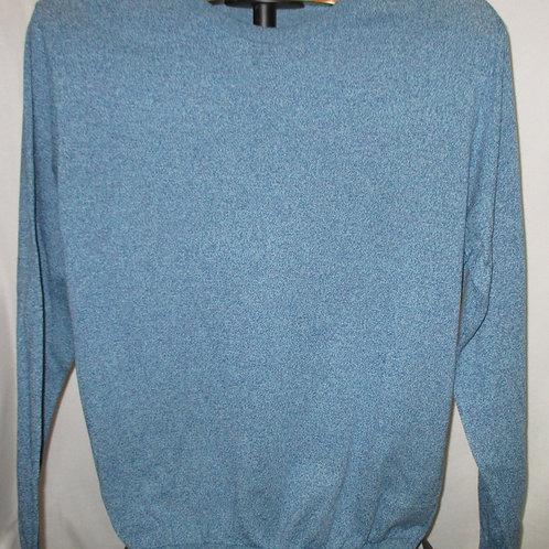 Men's Turquoise  Blue Thin Italian Lorenzoni Sweater