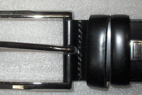 Men's Black Italian Calfskin Classic Plain Leather Belt