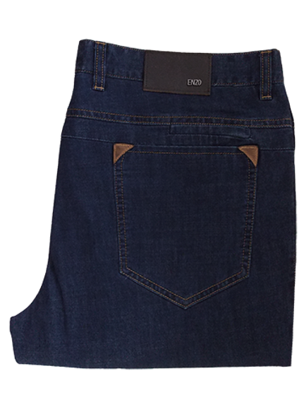 Men's Enzo Dark Denim Straight Leg Jeans