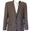 Thumbnail: Men's Pin Check Navy & Tan Wool Sport Jacket