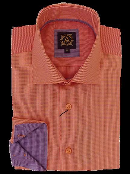 Men's Orange & Deep Lilac Long Sleeves Ave21 Trendy Shirt