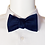 Thumbnail: Navy Blue or Red Satin Self-tie Silk Bowtie