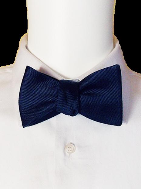 Navy Blue or Red Satin Self-tie Silk Bowtie