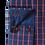 Thumbnail: Men's Navy Blue & Red Checks Long Sleeves Trendy Maceoo Shirt