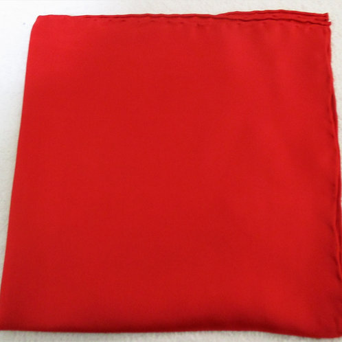 Red Vivid Solid Silk Pocket Square