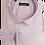 Thumbnail: Men's pink with blue & white geometric pattern contrast long sleeve fun shirt