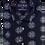 Thumbnail: Men's navy with white kaleidoscope pattern Ave21 short sleeve shirt
