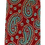 Thumbnail: Royal Blue & Red Colorful Paisley Print Silk Italian Necktie