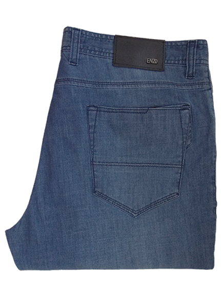 Men's Steel Blue Enzo Summer Jeans