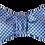 Thumbnail: Cornflower Blue Self-tie Silk Bowtie