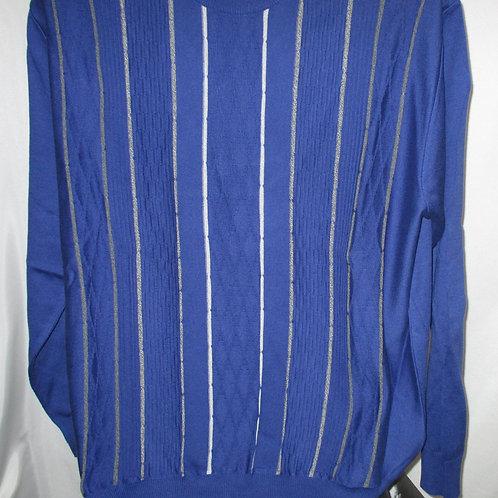 Men's Cobalt Blue & Gray Italian Montechiaro Sweater