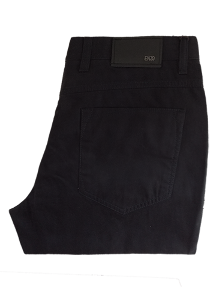 Men's Enzo Dark Navy Modern Fit Denim Style Cotton Pants