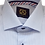 Thumbnail: Men's Silver Blue Woven Long Sleeves Dress Ave21 Trendy Shirt