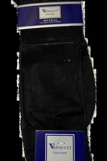 Men's dressy almost transparent black socks