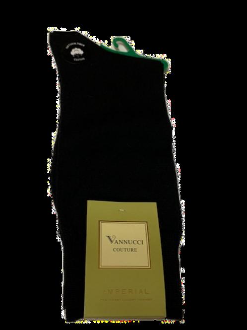 Men's finest cotton classic black socks