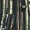 Thumbnail: Men's Rigardi black &  earth tones  long sleeve super slim fit shirt