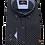 Thumbnail: Men's Rigardi black & white fine pattern long sleeve super slim fit shirt