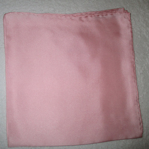 Baby Pink Solid Silk Pocket Square