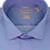 Thumbnail: Men's Cornflower Blue Twill Slim Fit Dress Shirt