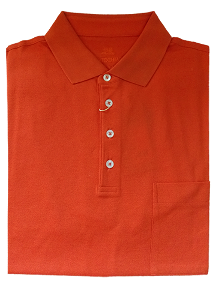 Orange Italian Montechiaro Button Down Polo Shirt