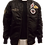 Thumbnail: Men's Black Aviator Bomber Jacket with patches