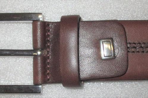 Men's Italian Classic Fine Grain Medium Brown Calfskin leather Belt