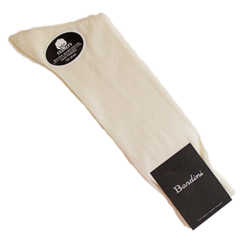 Men's Bardini Cream Color Thin Socks