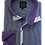 Thumbnail: Men's Navy & White Small Checks With Purple Contrast Ave21 Trendy Shirt