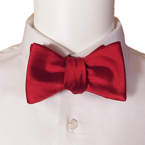 Red Vivid Silk Self-tie Bowtie