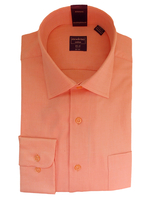 Men's Salmon Color Classic Fit Dress Shirt