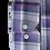 Thumbnail: Men's Gray & Purple Plaid Long Sleeves Ave21 Shirt