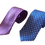 Thumbnail: Polka Dots Silk Italian Neckties in Electric Blue and Lavender