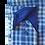 Thumbnail: Men's Blue & Green Check Maceoo Paris Trendy shirt
