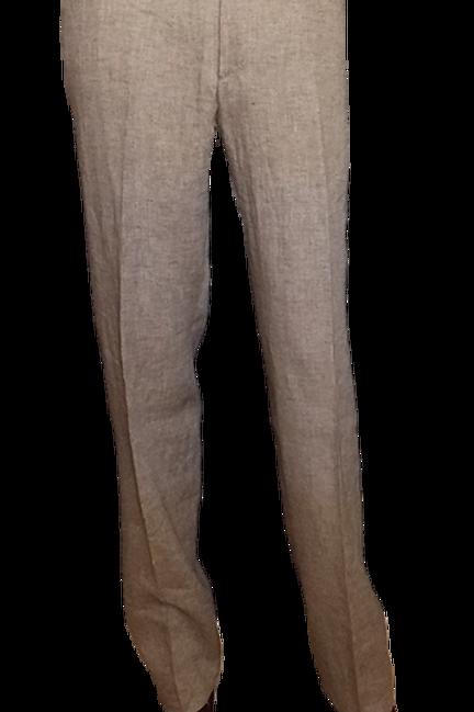 Men's Beige Linen Italian Chiari Pants