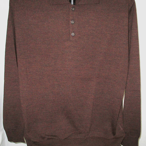Men's Cinnamon Brown Italian Montechiaro Sweater