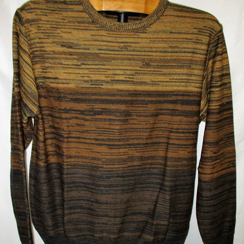 Men's Gold & Brown Montechiaro Italian Interwoven Sweater