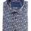 Thumbnail: Men's fun discs & CDs fine pattern blue, white & black short sleeve shirt