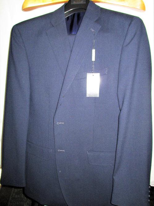 Men's Sapphire Blue Twill ItalUomo Wool Suit