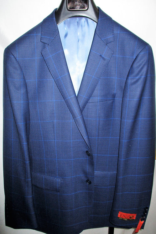 Men's Blue Black Tartan Plaid Enzo Wool Sport Jacket