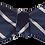Thumbnail: Navy and White  Stripes Silk Self-tie Bowtie