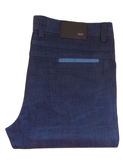 Men's Enzo True Blue KIRK-1B Summer Jeans