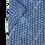 Thumbnail: Men's fun navy with fine pattern silk feel short sleeve shirt