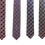Thumbnail: Classic Checkered Silk Italian Neckties in Red, Blue, Navy & Gold