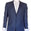 Thumbnail: Men's French Blue ItalUomo Solid Wool & Silk Suit Jacket