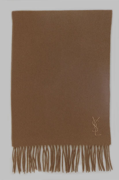 Men's YSL Camel Wool & Cashmere Luxurious Italian Scarf