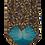 Thumbnail: Nature inspired Leaf Print Italian Neckties in Blue, Purple & Lavender