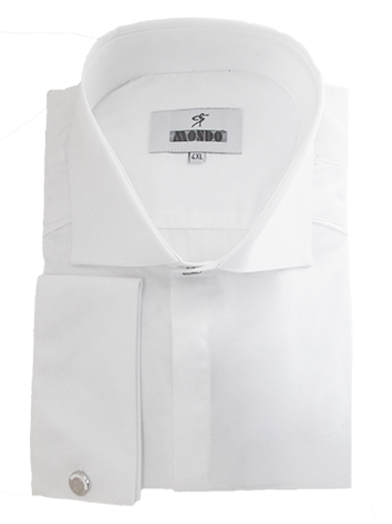 Men's White Long Sleeves Mondo Dress Shirt