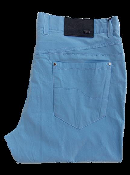 Men's Enzo Sky Blue Cotton Pants